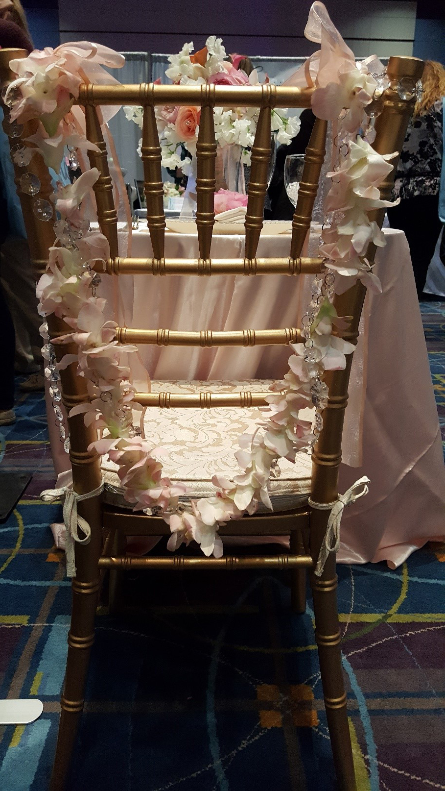 Gold Wooden Chiavari Chair from Dover Rent-All Tents and Events