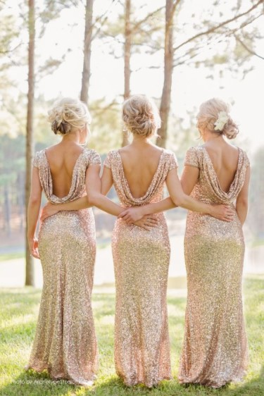 These metallic dresses are a thing of beauty!